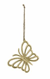 Metallhänger Schmetterling, gold / nickel, 10 x 8 cm