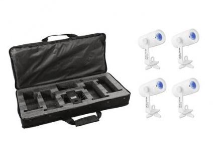 EUROLITE Set 4x AKKU Wash Spot, Softbag, Ladegerät