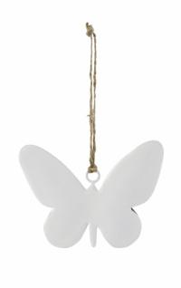 Metallhänger, Schmetterling, weiß, 10 cm