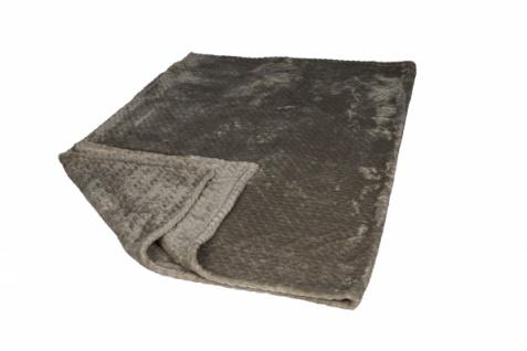 Premium Kuscheldecke Flannel, taupe, 130 x 180 cm