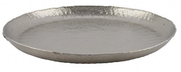 Aluminiumteller, rund, silber, Ø33 x 3 cm