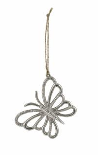 Metallhänger Schmetterling, silber / nickel, 10 x 8cm