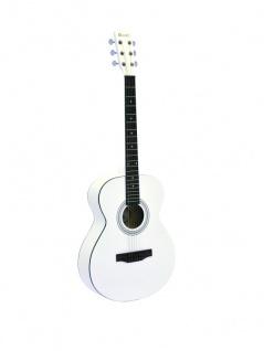 DIMAVERY AW-303 Westerngitarre weiß