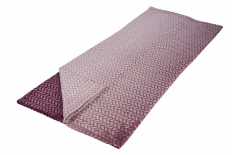 Premium Kuscheldecke, Flannel, rosa / beere, 130 x 180cm
