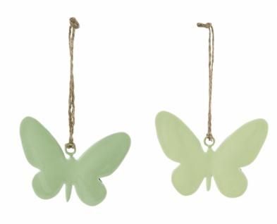 Metallhänger Schmetterling, 2 Stück, grün, 15 cm