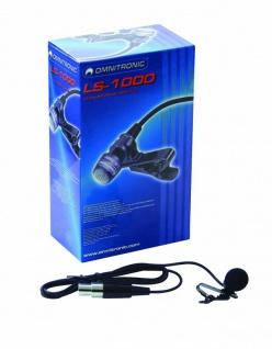 OMNITRONIC LS-1000 XLR Lavalier-Mikrofon