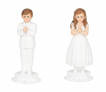 Kommunionkinder, 2 Stück, Kunststoff, 6, 3 x 5, 2 x 13 cm
