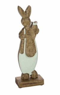 Holzaufsteller Hase mit Karotte