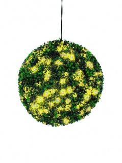 EUROPALMS Buchsbaumkugel mit gelben LEDs, künstlich, 40cm