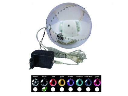 EUROPALMS LED Snowball 15cm, schwarz