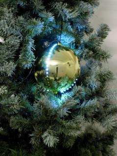 EUROPALMS LED Snowball 8cm, gold 5x