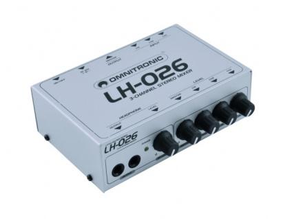 OMNITRONIC LH-026 3-Kanal-Stereo-Mixer