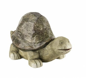 Schildkröte, Kunststoff, grün, 41 x 30 x 24 cm