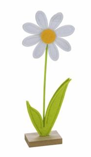 Filzaufsteller, Blume, grün - weiß, 27 x 10 x 4 cm