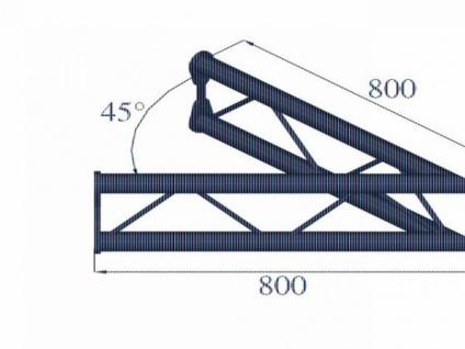 Alutruss Bisystem Pv-19 2-weg 45° Vertikal - Vorschau 2