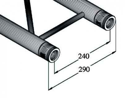 Alutruss Bilock Bq2-5000 2-punkt-traverse 2