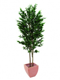 EUROPALMS Olivenbaum mit Früchten, 2-stämmig, künstlich, 250cm