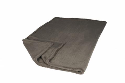 Premium Kuscheldecke Flannel braun 130x180cm