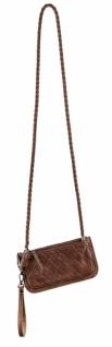 Handtasche, Kunstleder, cognac, 12 x 23 x 1 cm