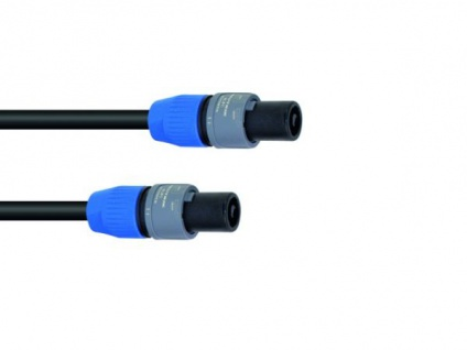 SOMMER CABLE Lautsprecherkabel Speakon 2x2, 5 10m sw