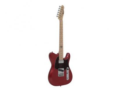 DIMAVERY TL-501 Modern E-Gitarre, red sparkle
