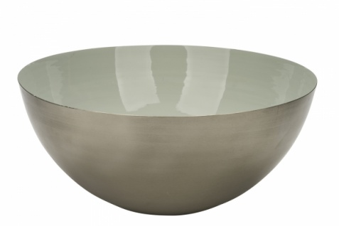 Metallschale, silber / mint, Ø40, 5 / 17, 5cm