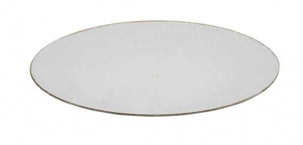 Kunststoffteller, rund, weiß, Ø40 cm / Höhe 2cm