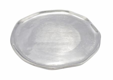Alutablett, rund, handgefertigt, 30 cm