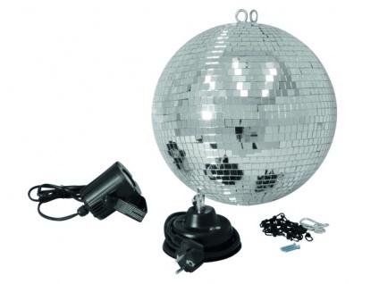 EUROLITE Spiegelkugelset 30cm mit LED-Spot