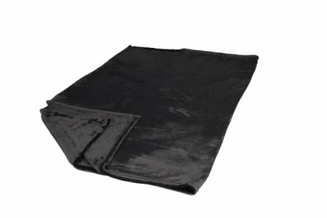 Premium Kuscheldecke Flannel anthrazit 130x180cm