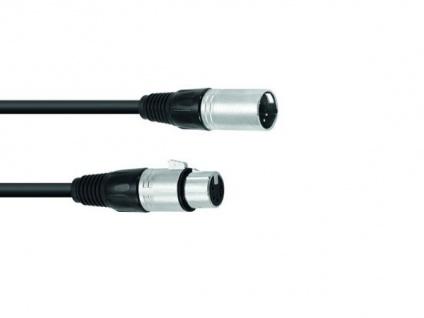 OMNITRONIC XLR Kabel 5pol 0, 5m sw
