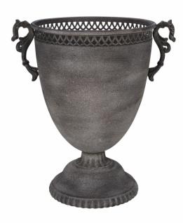 Pokal, dunkelgrau, Metall, handgefertigt, Ø 31, 5 cm / Höhe: 40 cm