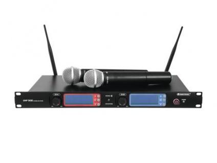 OMNITRONIC UHF-502 2-Kanal-Funkmikrofonsystem 863-865 MHz