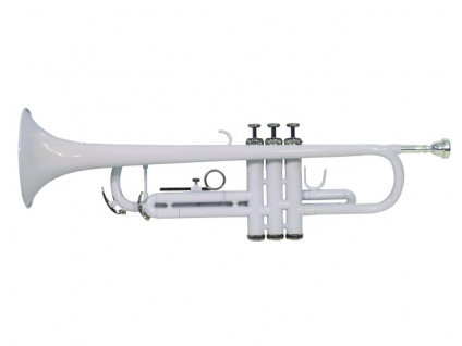 DIMAVERY TP-10 B-Trompete, weiß