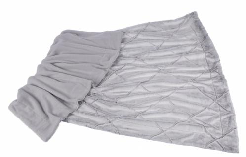 Premium Kuscheldecke, meliert, weiß / grau, 130 x 180cm