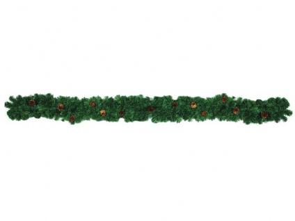 EUROPALMS Edeltannengirlande mit Zapfen, 270cm