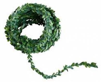 Dekogirlande, Myrthe, grün, Kunststoff, 7, 5m
