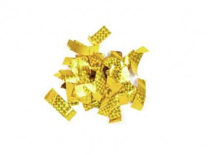 TCM FX Metallic Konfetti rechteckig 55x18mm, gold, Lasereffekt, 1kg