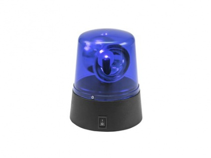 EUROLITE LED Mini-Polizeilicht blau USB/Batterie
