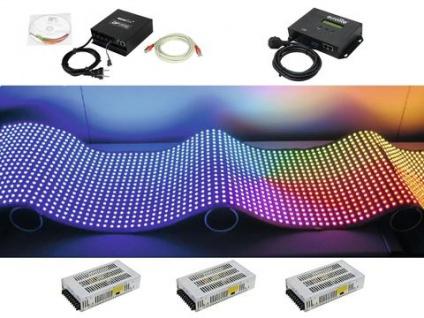 EUROLITE Set DF-40 LED-Display 92x92 + Kontrollsystem + Medienplayer