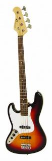 DIMAVERY JB-302 E-Bass LH, sunburst