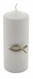 Kerzenstecker, Aluminium, Fisch, 4cm