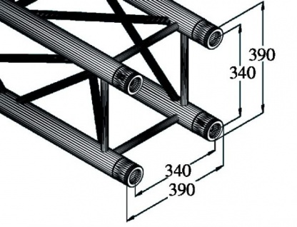Alutruss Quadlock Tq390-2500 4-punkt-traverse - Vorschau 2