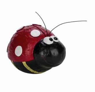 Marienkäfer, Kunststoff, rot / schwarz, 7 x 5 x 4, 5 cm