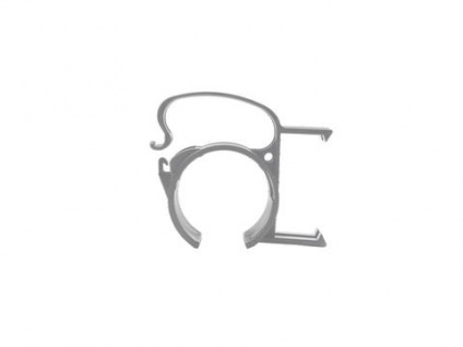 SNAP Befestigungsklammer silber 4x