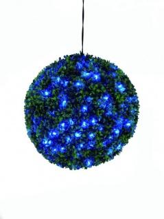 EUROPALMS Buchsbaumkugel mit blauen LEDs, 40cm