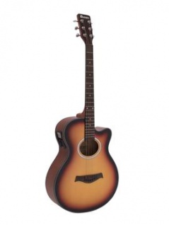 DIMAVERY AW-400 Westerngitarre, sunburst
