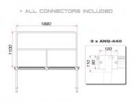 GUIL TMQ-02/440 Bühnengeländer 188cm Aluminiumversion