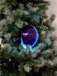 EUROPALMS LED Snowball 8cm, lila 5x
