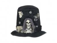 EUROPALMS Halloween Kostüm Zylinder mit Totenkopf